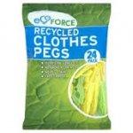 EcoForce 24pack clothes pegs - instore c&c dunelm £1.03