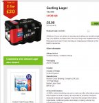 36 Cans of Carling for £20 = 56p a can! @ ASDA