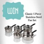 Win Classic Five Piece Stainless Steel Pan Sets @ Viners( FB)