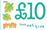 Buy a £10 gift voucher at Giraffe and get a £5 voucher free