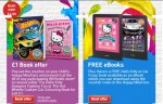 £1 Hello Kitty Designer Fashion Fun / Hot Wheels Customs Car Colouring Book Offer & Hello Kitty/Hot Wheels Free eBooks With Happy Meals @ McDonalds...