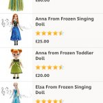 New stock of Frozen items in Disney Store incl Elsa & Anna Singing Dolls £25