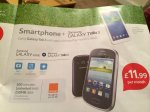 Tesco Mobile - Samsung Galaxy Fame + Tab 3 7.0 + 500min, unlimited txt, 250mb Data £11.99 24 month Contract.
