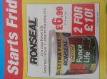 Ronseal one coat fence life 10 litres for £10.00 @ Boyes