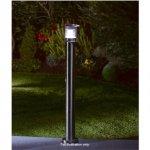 stainless steel garden solar light post £9.99 bargin at b&m