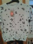 butterfly print cardigan. Pale blue.  £10  Sainsburys