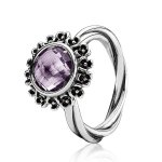 61% off RRP on Pandora Silver and Purple Amethyst Flower Ring [Free First Class Delivery] (Was £100, NOW £39.00) @ The Jewel Hut