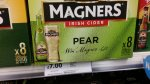 Magners Pear/Original 8 x 500ml £7.00 online and instore at Tesco