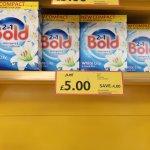 Bold Washing Powder White Lily 2.6Kg 40 Washes £5.00 Tesco
