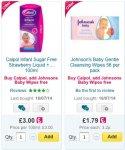 Free Johnson's baby wipes with Calpol £3.00 at Ocado