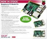 Raspberry Pi B+ £27.44  free P&Ponline @ CPC Farnell