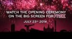 See opening ceremony of the Glasgow Commonwealth Games 2014 at Vue cinemas in Scotland