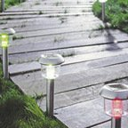 8 Pack Asina LED colour changing solar lights was £14 now £8 @ B&Q this weekend