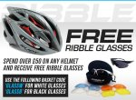 Buy any helmet over £50, get a pair of Ribble glasses for free