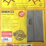 Beko American Fridge Freezer @ JTF Wholesale for £478.80 incl of VAT