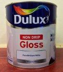 Dulux Non-drip Gloss, Pure Brilliant White, 2.5L £12 @ Tesco click & collect