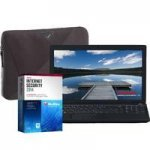 "coop electrical shop Toshiba Satellite C50D-138 Laptop with Targus A7 Laptop Case & McAfee Internet Security 2014, AMD E1-2100, 2GB, 500GB, Windows 8.1, 15.6"" Display £239.99 free delivery"