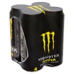 Monster Energy 4 pack *All Varieties* only £3 instore & online @ tesco