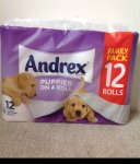 Andrex family pack (12 Rolls) advertised in Tesco forestfach (Swansea) as £5.00 but scanning at £2.50!