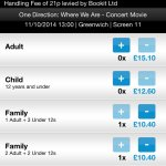 One Direction Where We Are cinema tickets £10.40 @ Odeon Greenwich