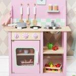 Pink Wooden Kitchen Pink Wooden Play Kitchen