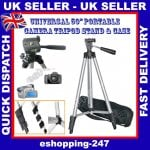 "50"" Universal Digital Camera Camcorder Adjustable tripod stand £4.90 @ Ebay/eshopping-247"