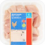 British Diced Chicken Breast (400g) from Sainsbury's was £4.50 now £2.25 @ Sainsbury's