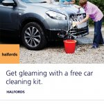 Free car cleaning kit at Halfords with O2 priority moments