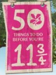 50 things to do before you are 11¾, print out check list at National Trust
