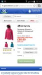 Ladies Sprayway Atlanta £45 with price check @ gooutdoors