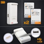 Note 3 Battery Replacement Pack 2X 3200mAh With NFC + US/UK/EU USB Wall Charger £14.38 - Sold by The Ago! and Fulfilled by Amazon