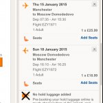 Manchester to Moscow (Return) - Jan 2015 £44.99 with easyJet