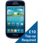 Vodafone Samsung Galaxy S3 Mini Mobile Phone - Blue £99.00 + 10 top up @ ARGOS Reseve & Collect £99