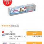 Logic Oral Hygiene Gel Enzymatic Dog & Cat Toothpaste free - just pay £2.99 postage @ Monster Pet Supplies