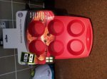 Silicone 6 cup muffin tray from Dunelm. Down from £6.99 to £1.74