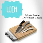 Win one three of our Monochrome 9 Piece Block and Board Sets @ Vines Store/Facebook