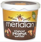 Meridian Natural Crunchy Peanut Butter 1kg (x 2) £8.98 ( or potentially £8.08 with 10% Quidco) @ Holland and Barrett,