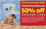 Up to 50% off selecetd lines in the end of Summer Sale @ Pet Supermarket