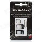 Nano SIM Card to Micro / Standard SIM Card Adapter Set for Iphone 4 / 4S / 5, SAMSUNG S4 - Black ONLY 60p + FREE DELIVERY @ DX