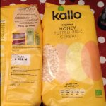 Kallo organic & gluten free  HONEY puffed rice cereal 275g was £2 - 39p in home bargains
