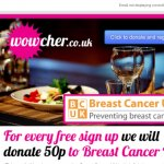 Donate 50p to Breast Cancer UK for free by signing up to Wowcher