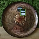 Gold ridged glass plate Reduced from £9.99 to £2.49 @ Dunelm mill