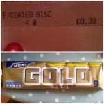 Gold Bars 39p at Tesco Eastville Bristol
