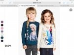 Two Frozen tops £9.99 + free p&p @ H&M (Pre order)