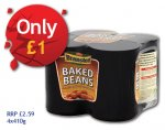 Branston Baked Beans 4 Pack £1 (RRP £2.59) (also scan at 99p) Nisa