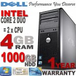 Refurb - Windows 7 Dell Core 2 Duo 4GB 1000GB DVD Desktop PC Computer Tower (Refurb) - @ titanium-computers ebay  - £139.99