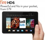 Pre-order Kind Fire HD6 8gb £79.00 @ Amazon