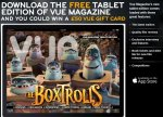 Win a £50 Vue voucher at VUE Cinemas when you download there free Tablet magazine