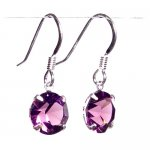 Fine amethyst Swarovski Crystal drop earrings on Sterling Silver £7.60 delivered free on orders over £10 Sold by pewterhooter and Fulfilled by Amazon