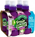 Robinsons Fruit Shoot (No Added Sugar) (4 x 200ml) was £1.50 now £1.00 @ Iceland